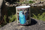 Blue Parrot Spix's Macaw Art Coffee Mug for Sale at Raspberry Lane Crafts The Art of Wendy Christine