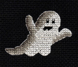 Buy Spooky is a white and gray ghost cross stitch pattern which is part of the Halloween Night Collection at Raspberry Lane Crafts