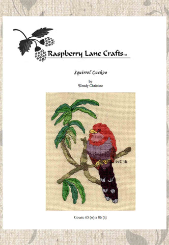 Squirrel Cuckoo Bird Cross Stitch Pattern Download
