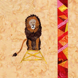 Lion with Stained Glass Quilt Block Pattern