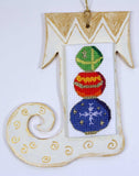 Buy Stacked Crystal Balls Christmas Stocking Ornament Cross Stitch Pattern