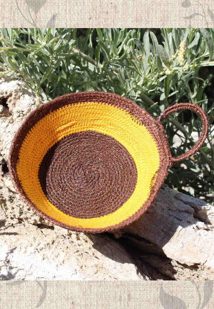 Artisanal Sunflower Mini Baskets for Sale at Raspberry Lane Crafts