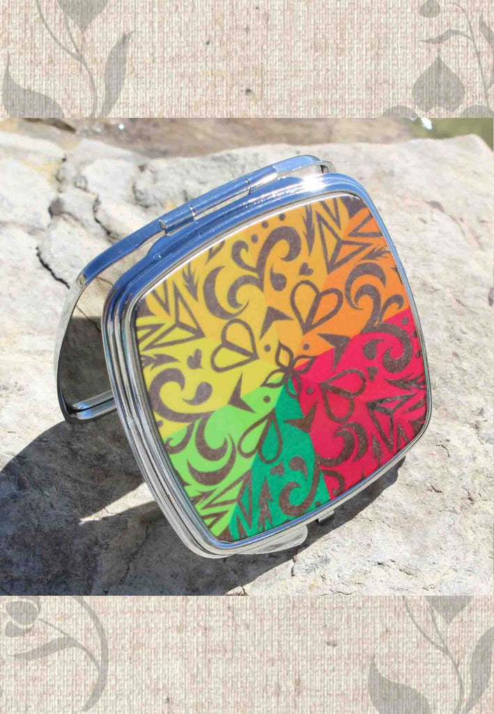 Buy beautiful Southwest Colorful Compact Mirrors for Purse Desk and Travel at Raspberry Lane Crafts