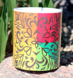 Colorful Orange Southwest Mug Sunset Filigree by Wendy Christine for sale