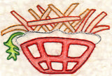 Buy french fries sweet potato fries embroidery design pattern download at Raspberry Lane Crafts.  Wendy Christine