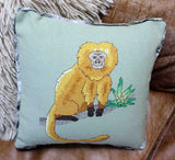 Golden Lion Tamarin with Bromeliad Cross Stitch Pattern