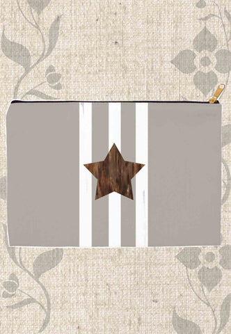 Taupe Star Accessory Pouches