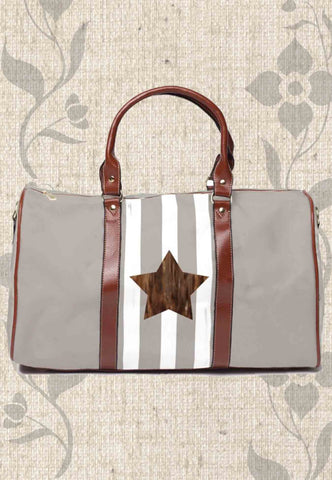 Taupe Star Travel Bags