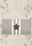 Taupe Star Weekender Tote Bags for Sale Brown Star White Stripes Brown Gray Bags for Travel from The Art of Wendy Christine