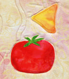 Tomato and corn chip sewn on Mexican placemat in Dinner On Us Placemats pattern at Raspberry Lane Crafts.  Buy Purchase for Sale and Wholesale Pricing Pricepoint www.raspberrylanecrafts.com