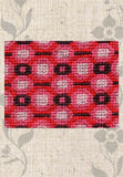 Treasure Box Cross Stitch Pattern Coral Block for Sale at Raspberry Lane Crafts