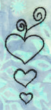 Buy three hearts embroidery design pattern download at Raspberry Lane Crafts