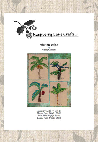 Tropical Palms Cross Stitch Pattern Download