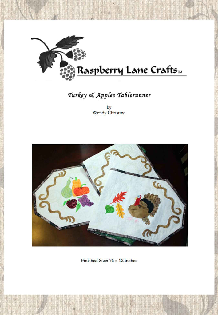 Buy Thanksgiving Table Runner Quilt Pattern Download at Raspberry Lane Crafts