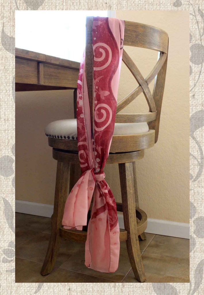 Buy Beautiful Pink Scarves Polychiffon or polyvoile Tuscan Lotus by Wendy Christine Find Purchase at Raspberry Lane Crafts