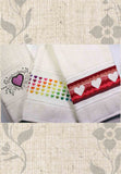 Valentine Heart Towels Cross Stitch Pattern for Sale by Wendy Christine