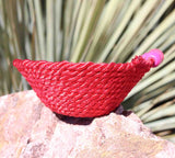 Cute hand-made red mini basket to buy at Raspberry Lane Crafts