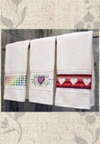 Buy Valentine Towel Cross Stitch Pattern at Raspberry Lane Crafts