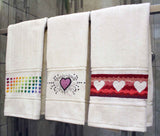 Valentine Towels Cross Stitch Pattern Download