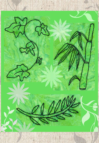 Verdant Leaves Embroidery Download