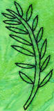 Leaf Branch embroidery design is an outline of a branch with many pinnate leaves.  Part of the Verdant Leaves Embroidery Design at Raspberry Lane Crafts.