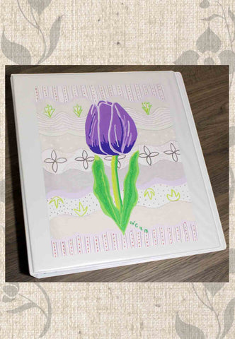 Violet Tulip Three-Ring Binder