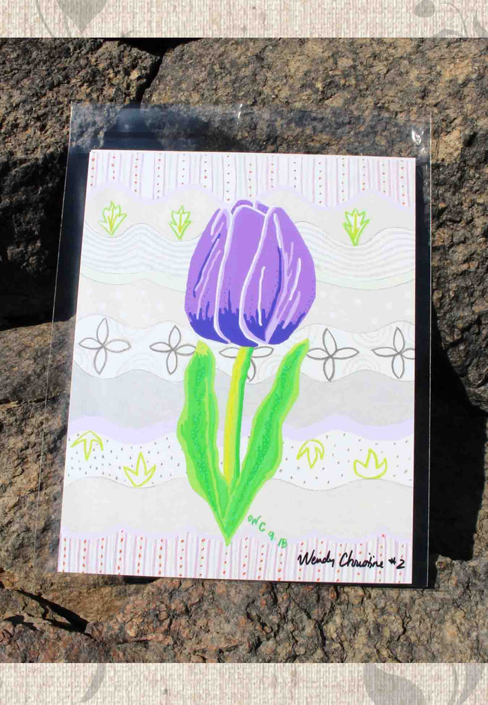 Purple Tulip Art Print for Sale Buy Purchase at Raspberry Lane Crafts