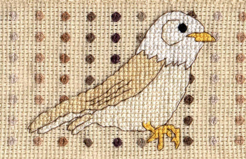 Red, White, and Blue Birds Cross Stitch Pattern for Towels