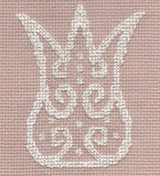 Lace in Blue Cross Stitch Pattern Download