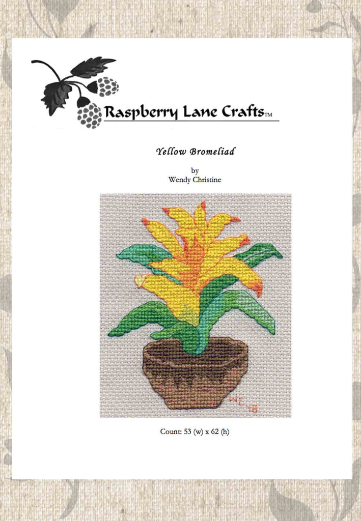 Yellow Bromeliad Cross Stitch Download