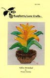 Yellow Bromeliad Cross Stitch Pattern
