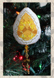 Buy Yellow Topaz  Cross Stitch Pattern featured in Jewel Ornaments Cross Stitch Pattern at Raspberry Lane Crafts.  Buy Purchase for Sale