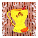 Yellow Coffee Mug Art Print 8 x 8 inches from The Art of Wendy Christine