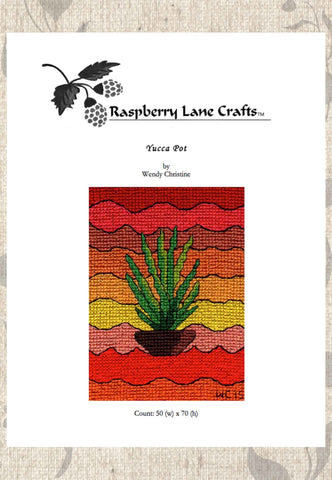 Yucca Pot Cross Stitch Pattern Digital Download