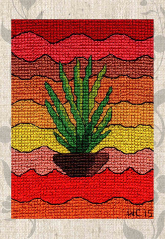 Yucca Pot Cross Stitch Pattern