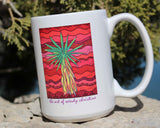 Yucca Tree Mug Southwest Green Cactus on Red for Sale