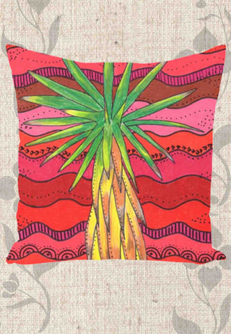 Yucca Tree Throw Pillows