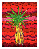 Red Cactus Art Print Yucca Tree by Wendy Christine Buy Purchase Find Southwest Prints 8 x 10