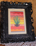 Southwest cactus cross-stitch pattern download for sale at Raspberry Lane Crafts