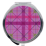 Chrysanthemum Plaid Compact Mirrors