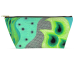 Peacock Green Blue Zipper Bag Accessory Pouches for Sale by Wendy Christine