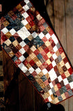 Buy Pieced Table Runner Pattern Using Charm Quilt Squares.  Limping Lizard Patterns sold at Raspberry Lane Crafts
