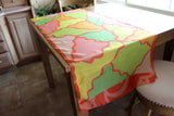 Gorgeous orange green yellow scarves Ambrosia to buy find for sale at Raspberry Lane Crafts.  Design by Wendy Christine