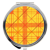 Yellow Plaid Compact Mirrors