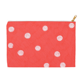 Buy Coral Red Dot Accessory Pouches for Pencils, Toiletries, Travel by Wendy Christine