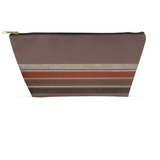 Brown Stripe Accessory Pouches
