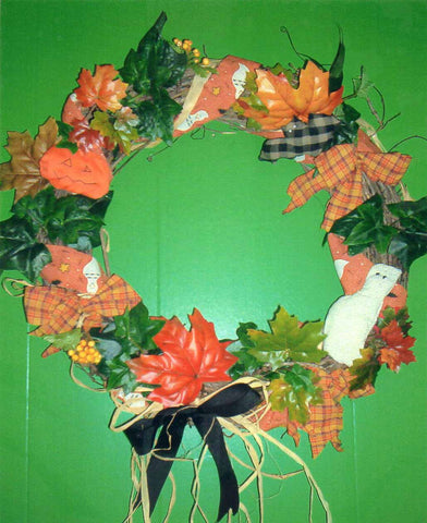 Boo-rific Wreath Craft Pattern