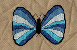 Raspberry Lane Crafts Magic Butterfly Collection Cross Stitch Pattern - blue butterfly - Blue Convict Hairstreak Butterfly designed by Wendy Christine