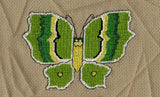 Raspberry Lane Crafts Magic Butterfly Collection Cross Stitch Pattern - green butterfly - Green Jewel-Wing Butterfly designed by Wendy Christine
