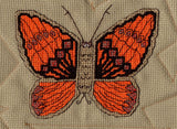 Raspberry Lane Crafts Magic Butterfly Collection Cross Stitch Pattern - orange butterfly - Western Swallowtail Butterfly designed by Wendy Christine